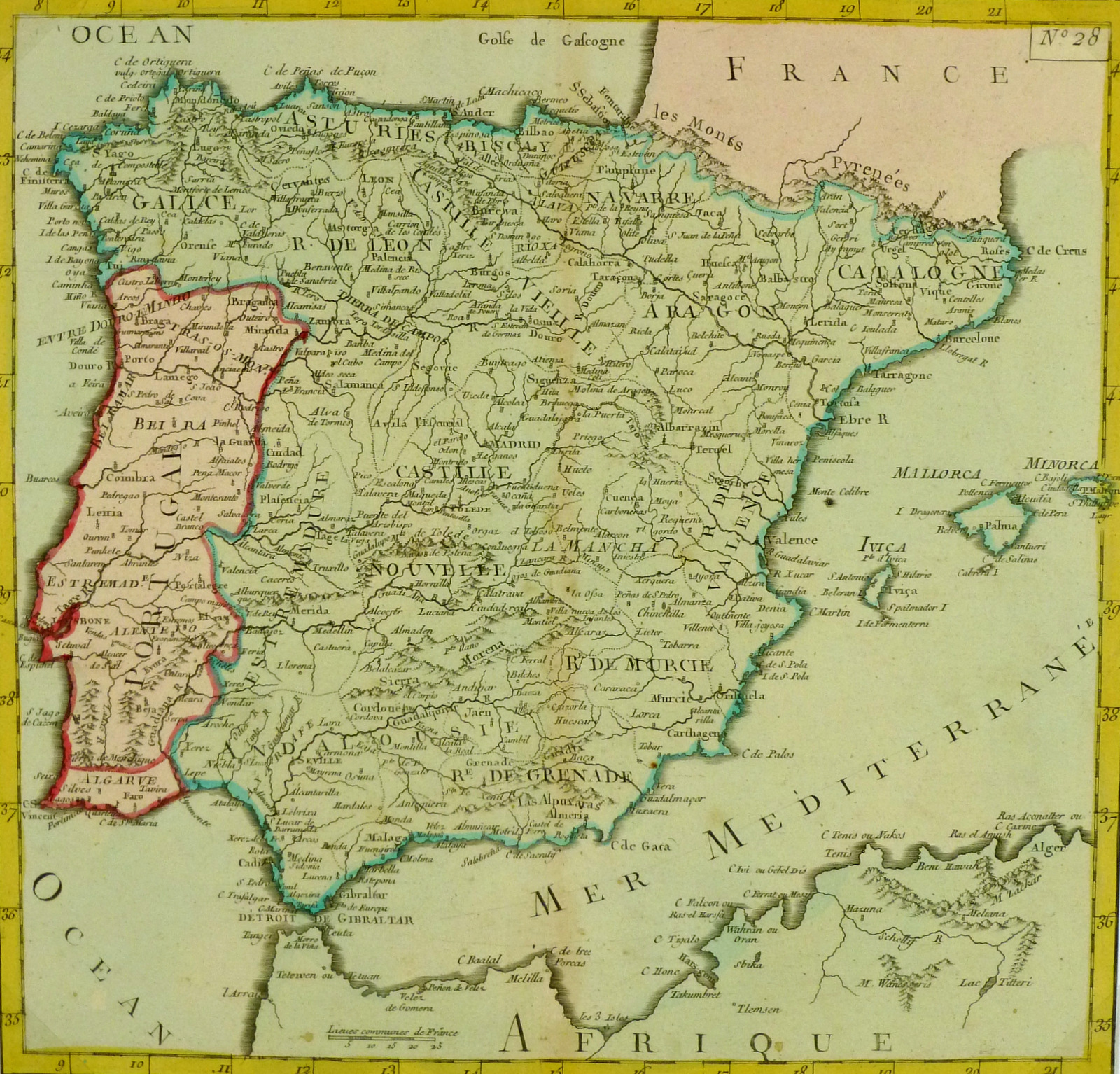 Map Of Ancient Spain 1767 Original Art Antique Maps Prints